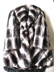 即決 新品同様 FENDI フェンディ 最高峰 チンチラファー毛皮ロングコート 40サイズ