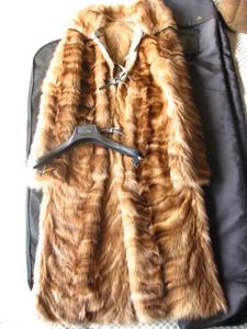即決 新品同様 FENDI フェンディ 最高峰 ゴールデンセーブルファー毛皮ロングコート☆42サイズ
