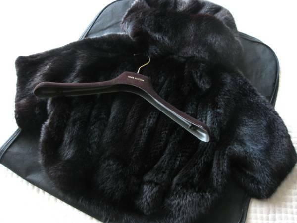 即決 新品未使用 LOUIS VUITTON ルイヴィトン 希少ミンクファー毛皮コート36サイズ☆ブラック