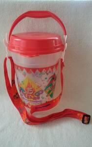 【 送料無料 】レトロ 当時物 東京ディズニーランド 15周年 ミッキーマウス ポップコーン バケット ホルダー付