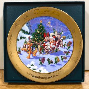 """ミッキー&ミニー/東京ディズニーランド """"1996クリスマスファンタジー"""" イヤープレート, アンティーク/ビンテージ"""
