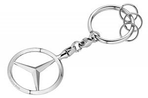 #◇◇【MercedesBenz Sクラス】W222 W221 W220 W140 ベンツ純正品 キーホルダー【クロームメッキリング・スリーポインテッドスター】