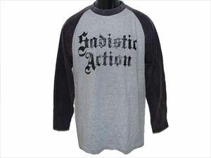 サディスティックアクション SADISTIC ACTION メンズ長袖Tシャツ Mサイズ NO21 新品