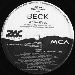 12inch / Beck / Where It's At / ZAC 096