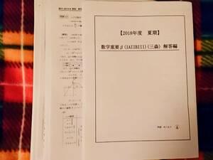 駿台 数学重要β(IAIIBIII) 18年 三森先生 駿台 河合塾 鉄緑会 代ゼミ Z会 ベネッセ SEG 共通テスト