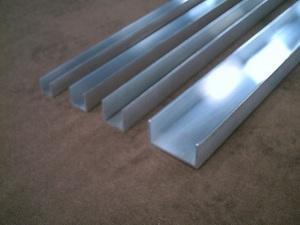アルミ 溝形(R無し)生地材 各品形状の(1000~100mm)各定寸長での販売A51