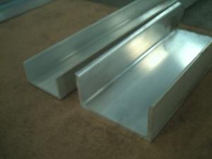 アルミ 溝形(R付き)生地材 各品形状の(1000~100mm)各定寸長での販売A51