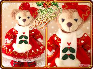 ■クリスマスウィッシュ型紙■ダッフィー&シェリーメイ■コート 手袋 マフラー■衣装・コスチューム・ハンドメイド・サンタクロース■DS21