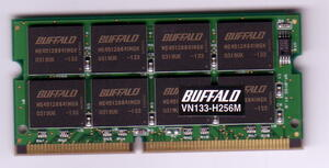 BUFFALO VN133-H256M PC133 144Pin 256MB used operation verification ending prompt decision