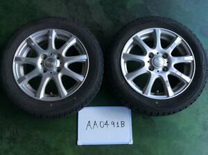AA0491B ホイール DUFACT 4H/PCD100 155/65R14 4.5J Offset +42 スタッドレスタイヤ ダンロップ ウィンターマックス