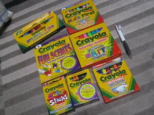 新品 Crayola クレヨラ 色鉛筆 フレグランス マーカー 蛍光 クレヨン WASHABLE MARKERS テクノブライト 蛍光 マジック まとめて 筆記用具