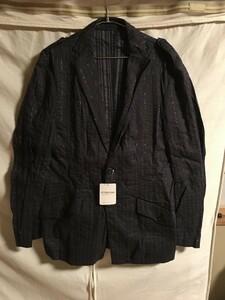 新品未使用 UNITED ARROWS ユナイテッドアローズ ストライプ テーラードジャケット Mサイズ ブラック