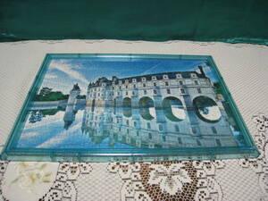 ☆ジグソーパズル(フレーム付)・鏡面風景「シュノンソーフランス」300ピース・中古組み立て済み