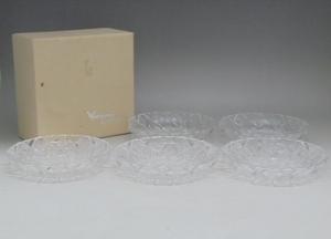 ★【長期保管/美品】カガミクリスタル デリシャス フルーツ皿 5枚セット(直径 約17cm)★