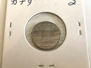 ★カナダ〈古銭〉アンティークコイン★1968年発行 10セント★コレクションに♪[KT-0223]