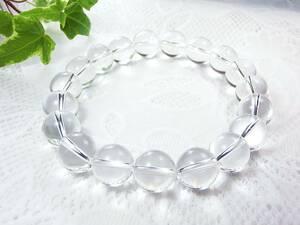 大玉 水晶 パワーストーン ブレスレット  メンズ 天然石 12mm 限定、浄化用、さざれ石、水晶プレゼント 1 クリスタル