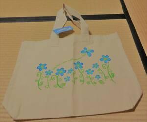 未使用!ハワイホノルルのクレイジーシャツの花模様のキャンバスバッグ(トートバッグ,エコバッグ)