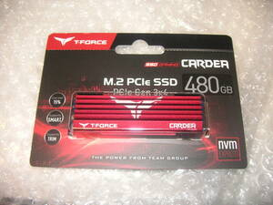 【高速NVMe・MLC・大型ヒートシンク】Team 480GB T-Foce Cardea SSD TM8FP2480G0C110 【第一グループの速度】