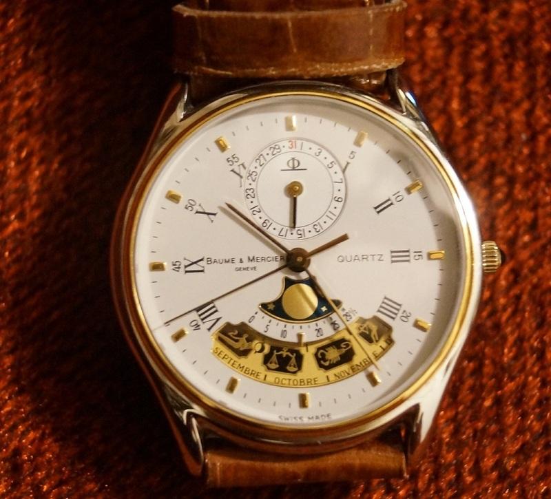 【超希少?超美品】ボーム&メルシェ天体時計 絶版アンティーク時計 コレクター品 おまけあり