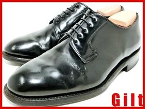 即決★REGAL★24cm レザービジネスシューズ リーガル メンズ 黒 ブラック 本革 革靴 プレーントゥ ドレス
