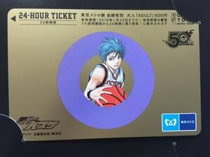 東京メトロ 24時間券 少年ジャンプ 黒子のバスケ