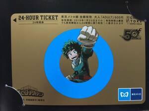 東京メトロ 24時間券 少年ジャンプ 僕のヒーローアカデミア