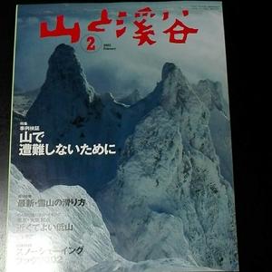 山と渓谷 2002年2月 特集事例検証山で遭難しないために 最新雪山の滑り方 近くて良い低山 特別付録ありません
