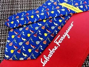 【セール品♪】R4062♪フェラガモ【フロート・旗】ネクタイ★