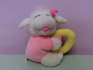 ラムチョップ Lambchop◆90S ビンテージ ガラガラ ラトル ぬいぐるみ人形 18㎝◆ラムちゃん 羊 ひつじ USA Vintage stuffed animal toy