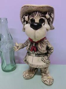 ビンテージ 1977年 犬 イヌ ソフビ フィギュア バンク 貯金箱 カウガール ラバードール◆Vintage Figure Bank Dog Doll USA雑貨 昭和レトロ