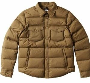 ノースフェイスTHE NORTH FACE STUFFED SHIRT スタッフドシャツ BF/ブラウンフィールド ND91610 メンズダウンアウター 新品未使用正規品