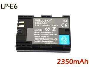 LP-E6 LP-E6N 互換バッテリー 2350mAh [ 純正充電器で充電可能 残量表示可能 純正品と同じよう使用可能 ] Canon キヤノン イオス EOS