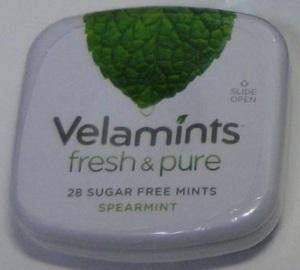 ☆早い者勝ち一点限り ☆国内では見かけない商品!  新品 未開封品 Velamints fresh&pure 28 SUGAR FREE MINTS SPEARMINT