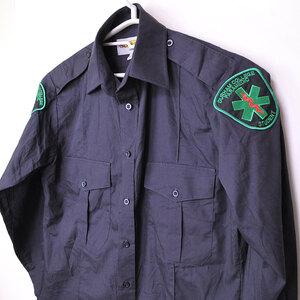 古着●アメリカ救急 長袖シャツ デュラハムカレッジ学生 S 14-14.5 色落ち xwp