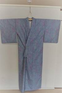 ★紬の小紋の着物★身長155cm前後の方に♪中古品です♪