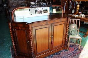 イギリスアンティーク家具 アンティークサイドボード ミラーバック/サイドボード ビクトリアン/サイドボード ミラー 鏡 英国製 n178a