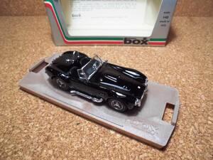 box MODEL ボックス モデル AC Shelby Cobra シェルビィ コブラ 1/43 ブラック イタリア製 未展示 検) 所さん トコロさん