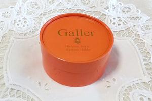 ★ガレGALLET オレンジ色 丸箱 小物入れ