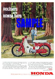 ◆1963年の自動車広告 ホンダ スーパーカブ 英国向け