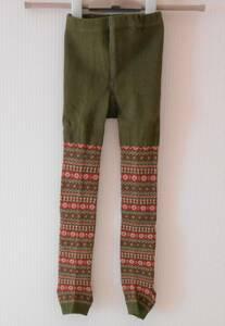 [New] Kids Torenka Knit Nordic 100cm Khaki