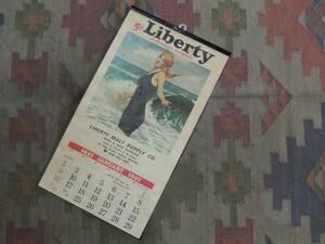 1975年製 * USA 1927'S * ビンテージカレンダー 未使用品 * アメリカデットストック品*アンティークタペストリー 壁掛け