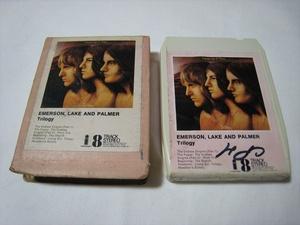 【8トラックテープ】 EMERSON, LAKE AND PALMER / TRILOGY UK版 箱付 エマーソン・レイク&パーマー トリロジーの商品画像
