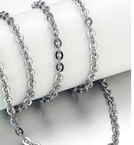 ◆ Новое ◆ Цепочка ожерелья из нержавеющей стали ◆ Набор из 5 шт. ◆ Azuki 50 см ◆ Серебро Серебро ◆ Базовый стандарт