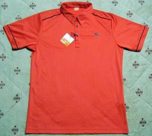 プーマ puma ゴルフ用高機能/涼感ポロシャツ 赤色 サイズ XO 背中:プリントあり 軽量/吸汗速乾/涼感/ストレッチ機能 定価 13,200円