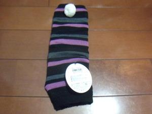New girl leg warmer size free vague black · purple 198 yen delivery possible