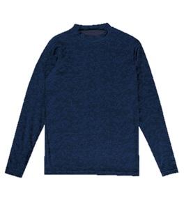 新品即決 Spazioスパッツィオ 裏起毛デジカモインナーシャツ Lサイズ ネイビー GE-0504-21-L