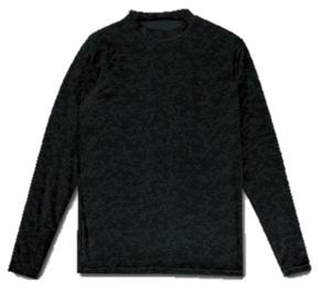 新品即決 Spazioスパッツィオ 裏起毛デジカモインナーシャツ Oサイズ ブラック GE-0504-02-O