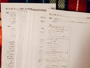 駿台 高3スーパー理系数学Sα10年プリント 駿台 河合塾 鉄緑会 代ゼミ Z会 ベネッセ SEG 共通テスト