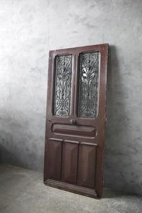 antique France iron .. wood door A door . gate