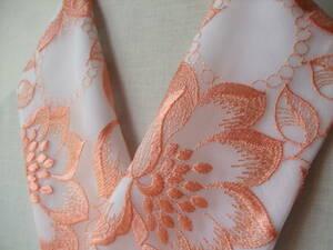 【さくら】5 ブライダルドレスレース生地から半襟♪*上品で華やかなオーガンジー・絹交織半襟